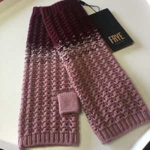 FRYE WOOL BLEND COLOR BLOCK ARM WARMERS OS NWT